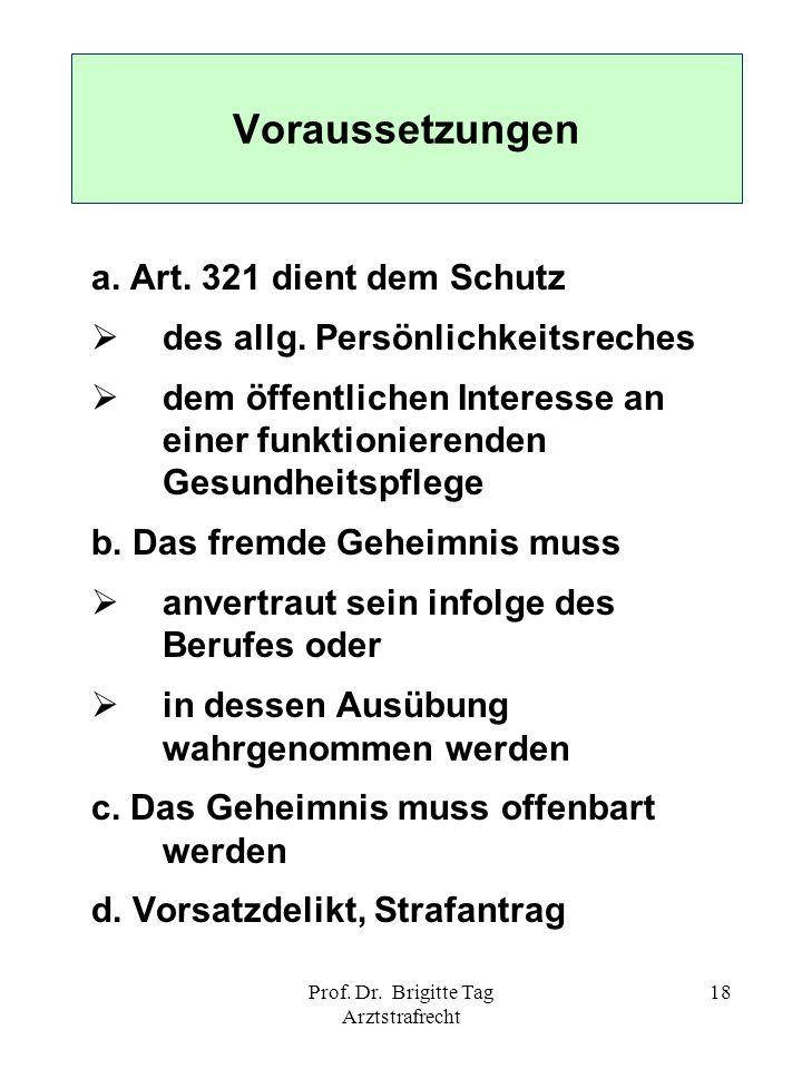 Prof. Dr. Brigitte Tag Arztstrafrecht