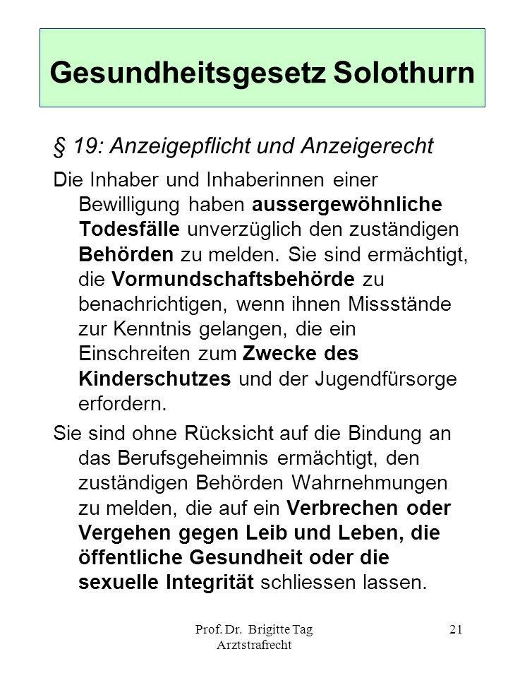 Gesundheitsgesetz Solothurn