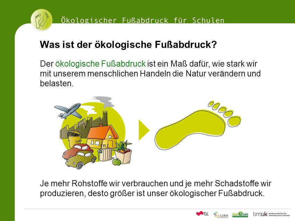 Was ist der ökologische Fußabdruck