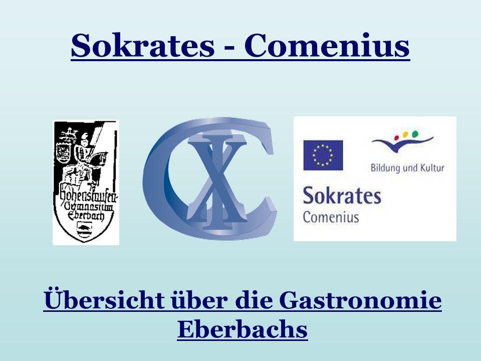Übersicht über die Gastronomie Eberbachs