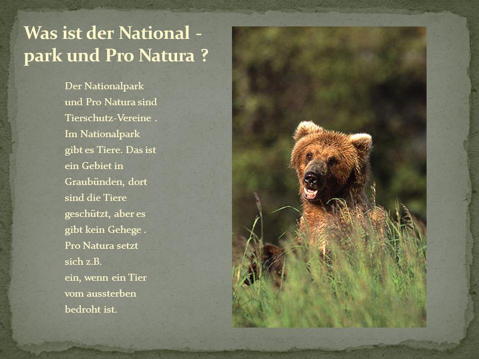 Was ist der National - park und Pro Natura