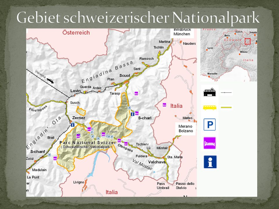 Gebiet schweizerischer Nationalpark