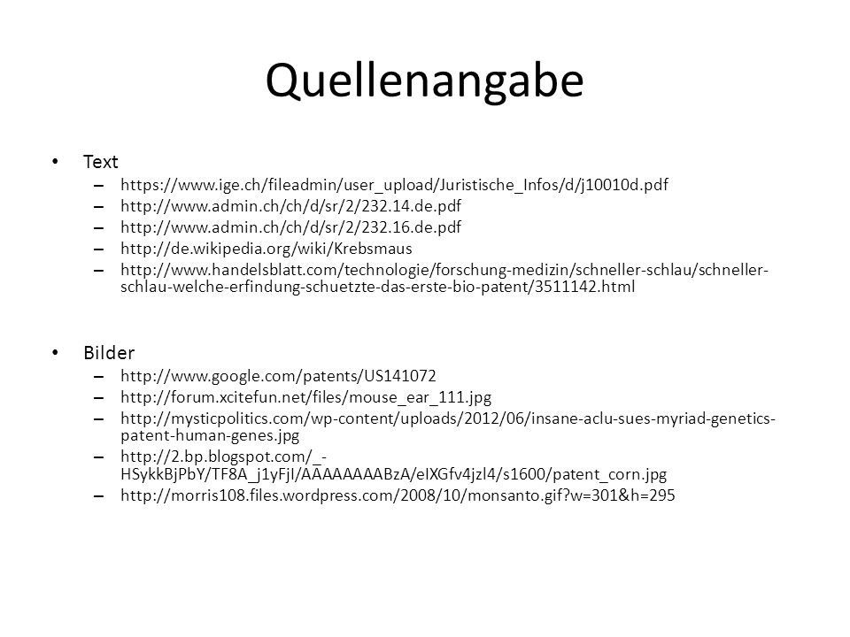 Quellenangabe Text Bilder