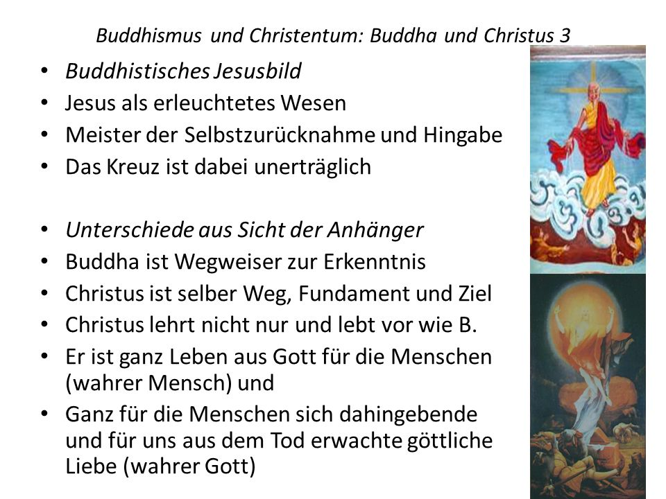 Buddhismus und Christentum: Buddha und Christus 3