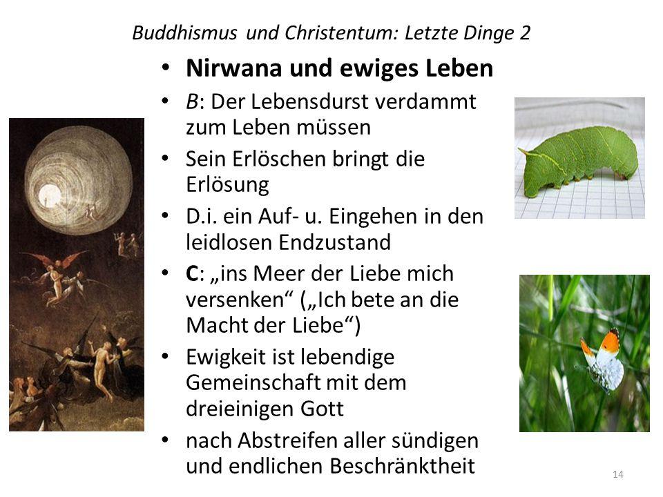 Buddhismus und Christentum: Letzte Dinge 2
