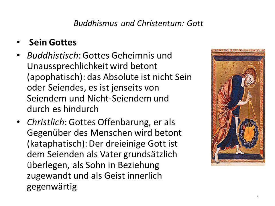 Buddhismus und Christentum: Gott