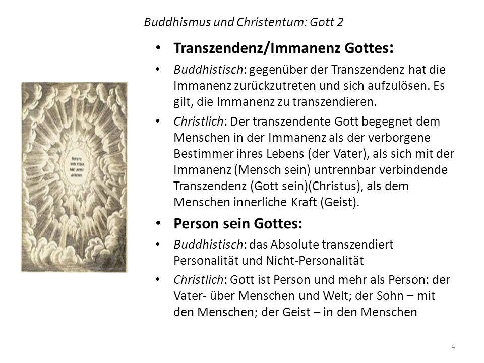 Buddhismus und Christentum: Gott 2