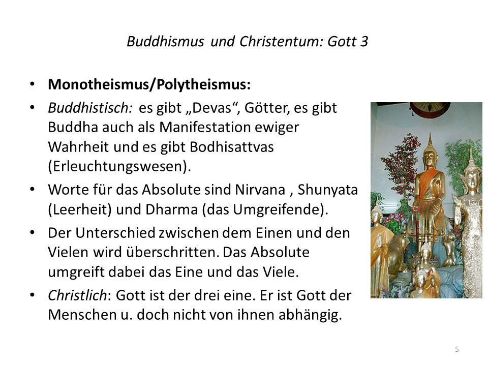 Buddhismus und Christentum: Gott 3