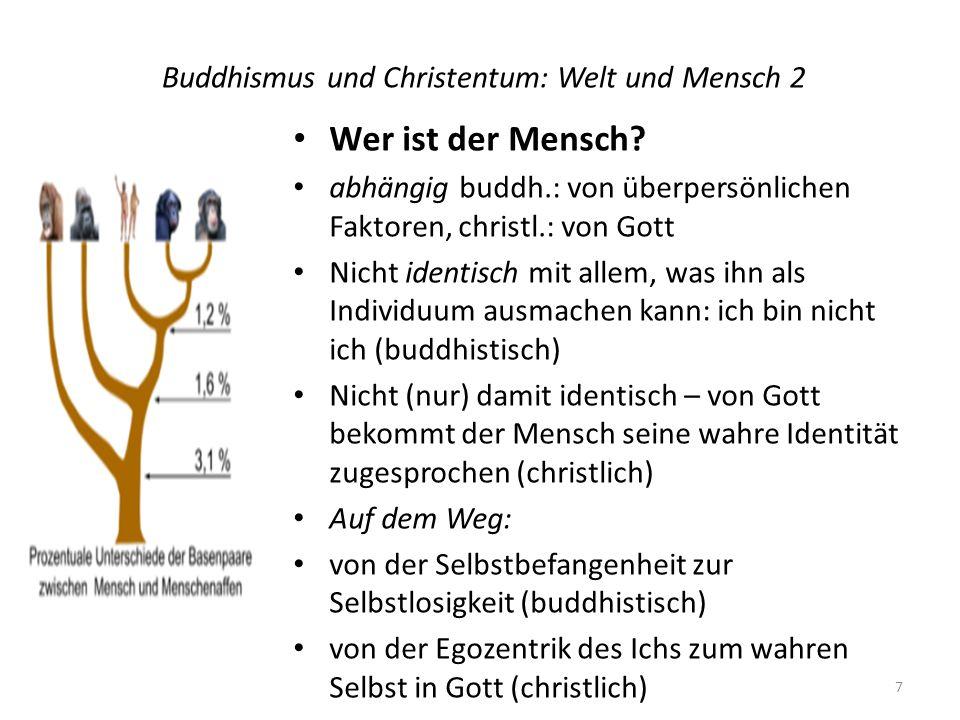 Buddhismus und Christentum: Welt und Mensch 2