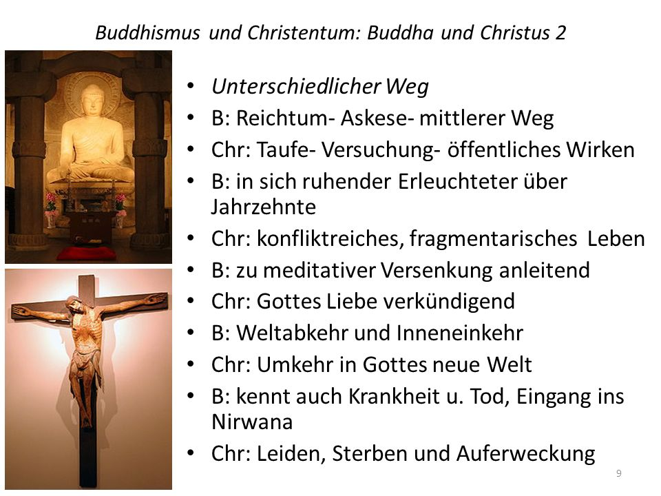 Buddhismus und Christentum: Buddha und Christus 2