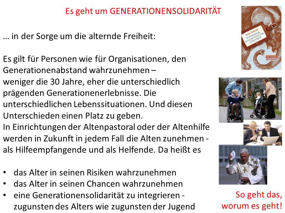 Es geht um GENERATIONENSOLIDARITÄT