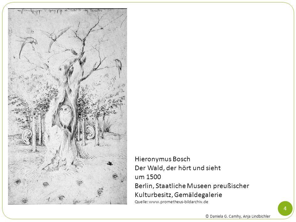 Hieronymus Bosch Der Wald, der hört und sieht um 1500 Berlin, Staatliche Museen preußischer Kulturbesitz, Gemäldegalerie