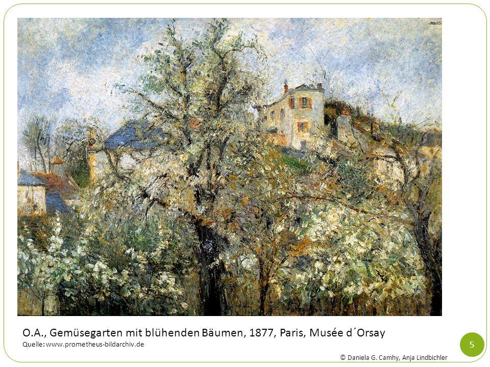 O.A., Gemüsegarten mit blühenden Bäumen, 1877, Paris, Musée d´Orsay