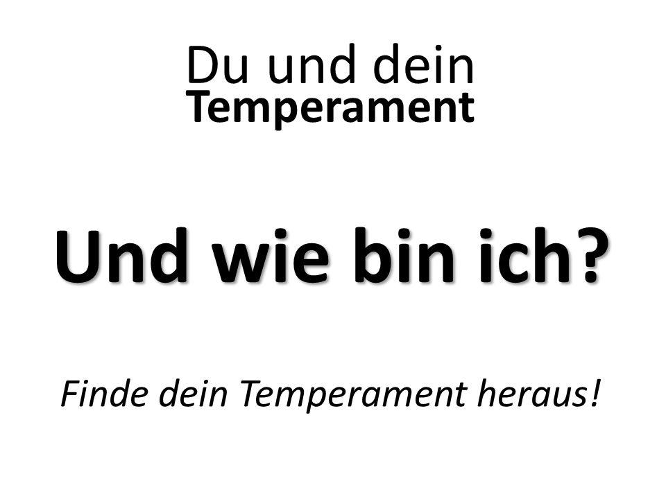 Finde dein Temperament heraus!