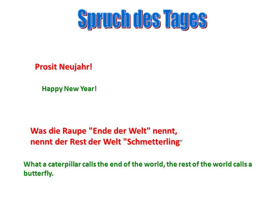 Spruch des Tages Prosit Neujahr!
