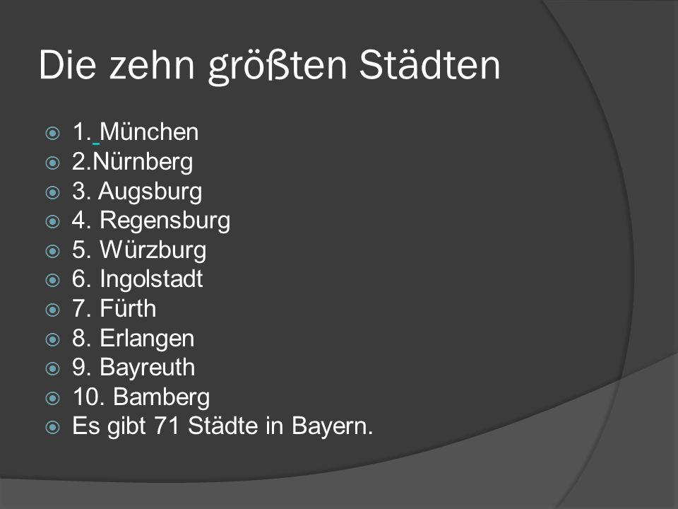 Die zehn größten Städten