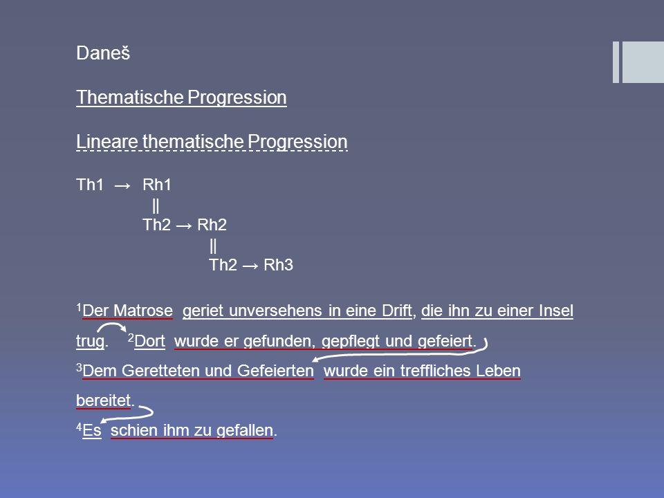 Thematische Progression Lineare thematische Progression