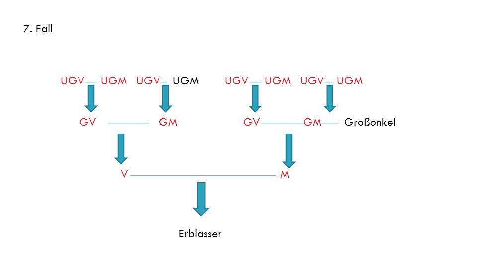7. Fall UGV UGM UGV UGM. UGV UGM UGV UGM. GV GM. GV GM Großonkel.
