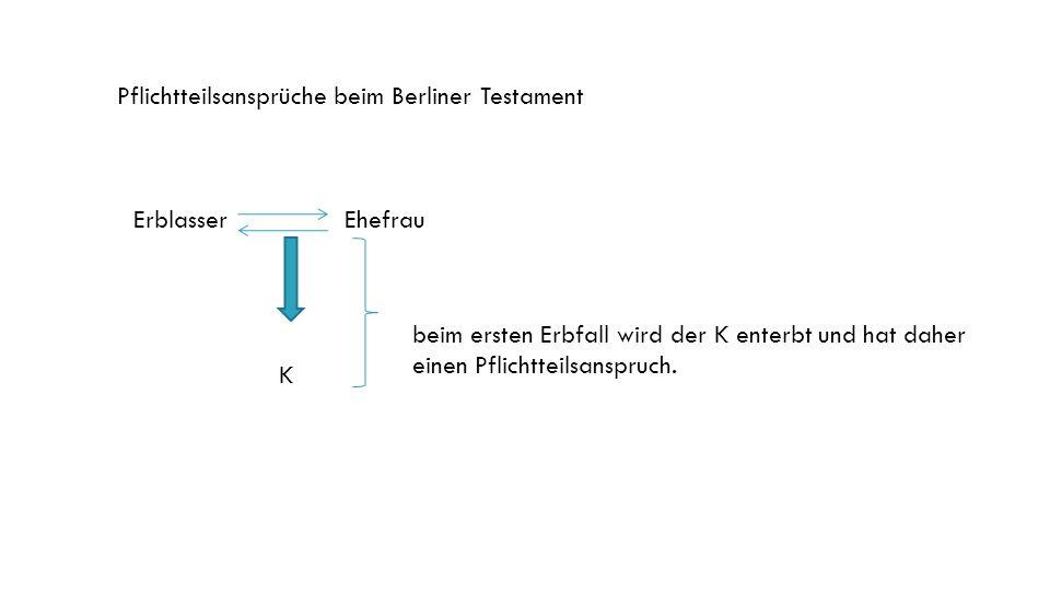 Pflichtteilsansprüche beim Berliner Testament