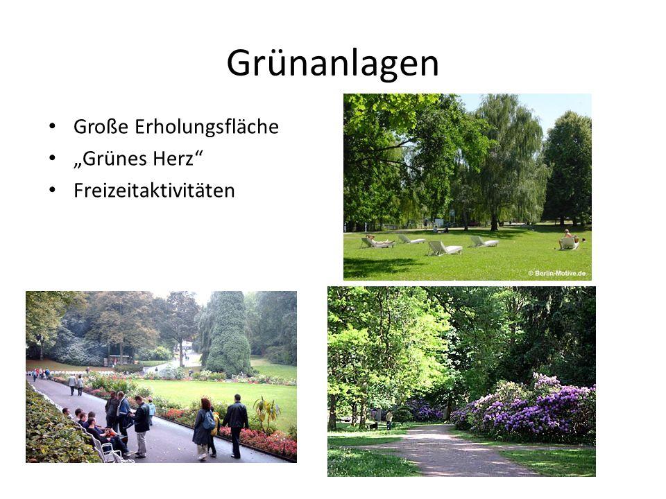 """Grünanlagen Große Erholungsfläche """"Grünes Herz Freizeitaktivitäten"""