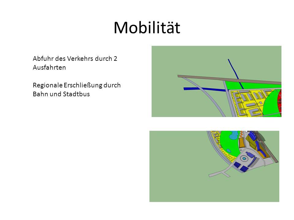 Mobilität Abfuhr des Verkehrs durch 2 Ausfahrten