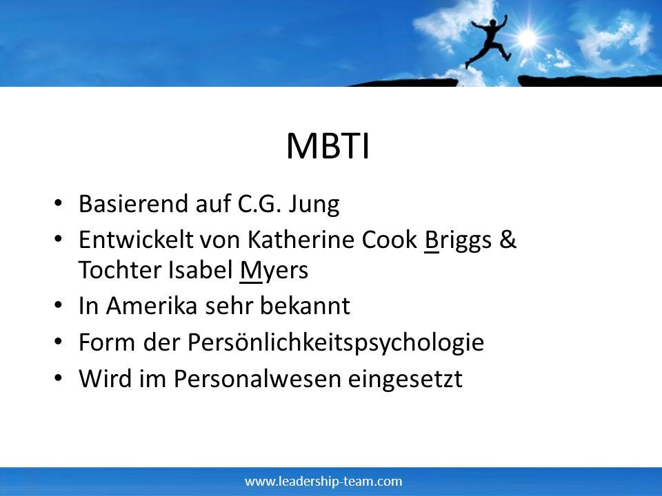 MBTI Basierend auf C.G. Jung