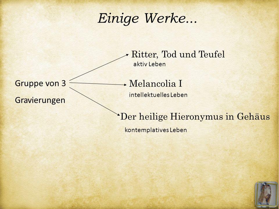 Einige Werke... Ritter, Tod und Teufel Gruppe von 3 Gravierungen