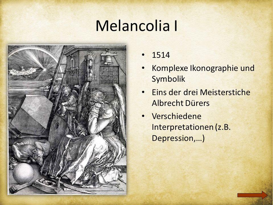 Melancolia I 1514 Komplexe Ikonographie und Symbolik