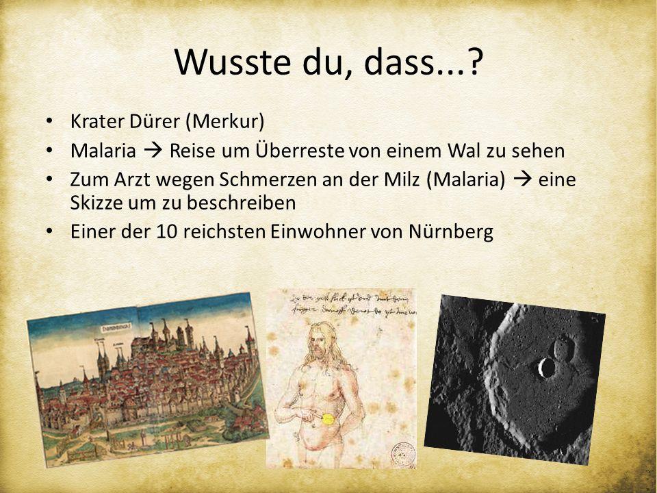 Wusste du, dass... Krater Dürer (Merkur)
