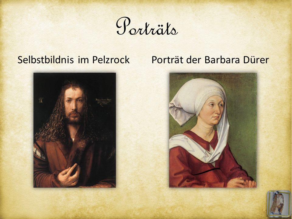 Porträts Selbstbildnis im Pelzrock Porträt der Barbara Dürer
