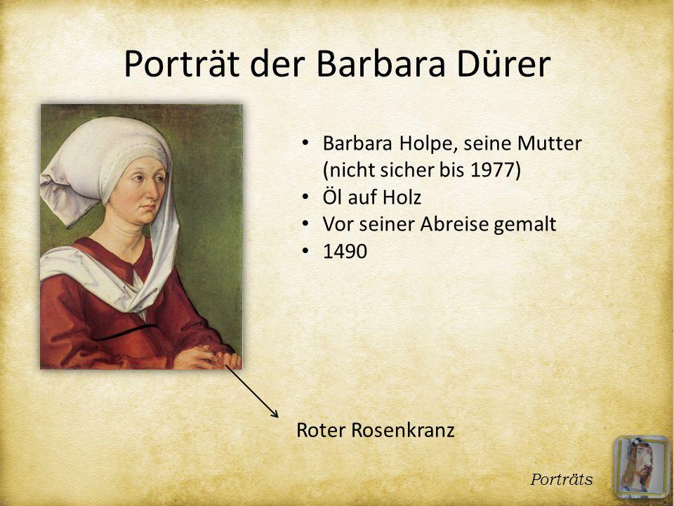 Porträt der Barbara Dürer