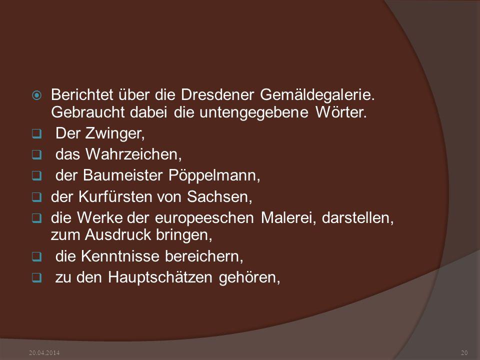 der Baumeister Pöppelmann, der Kurfürsten von Sachsen,
