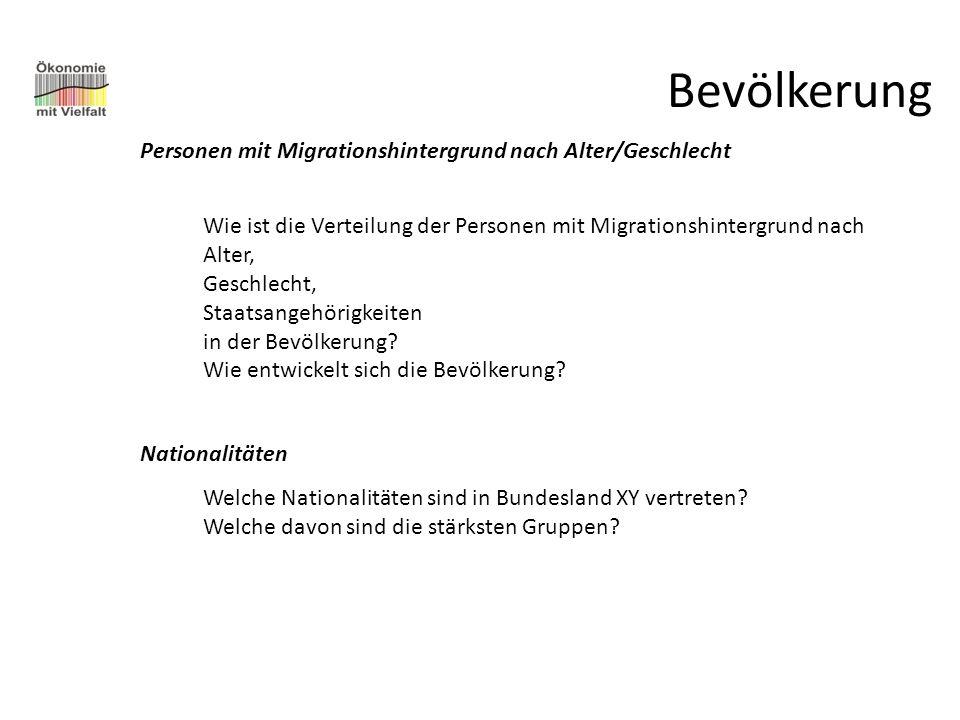 Bevölkerung Personen mit Migrationshintergrund nach Alter/Geschlecht