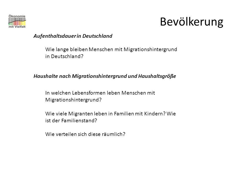 Bevölkerung Aufenthaltsdauer in Deutschland
