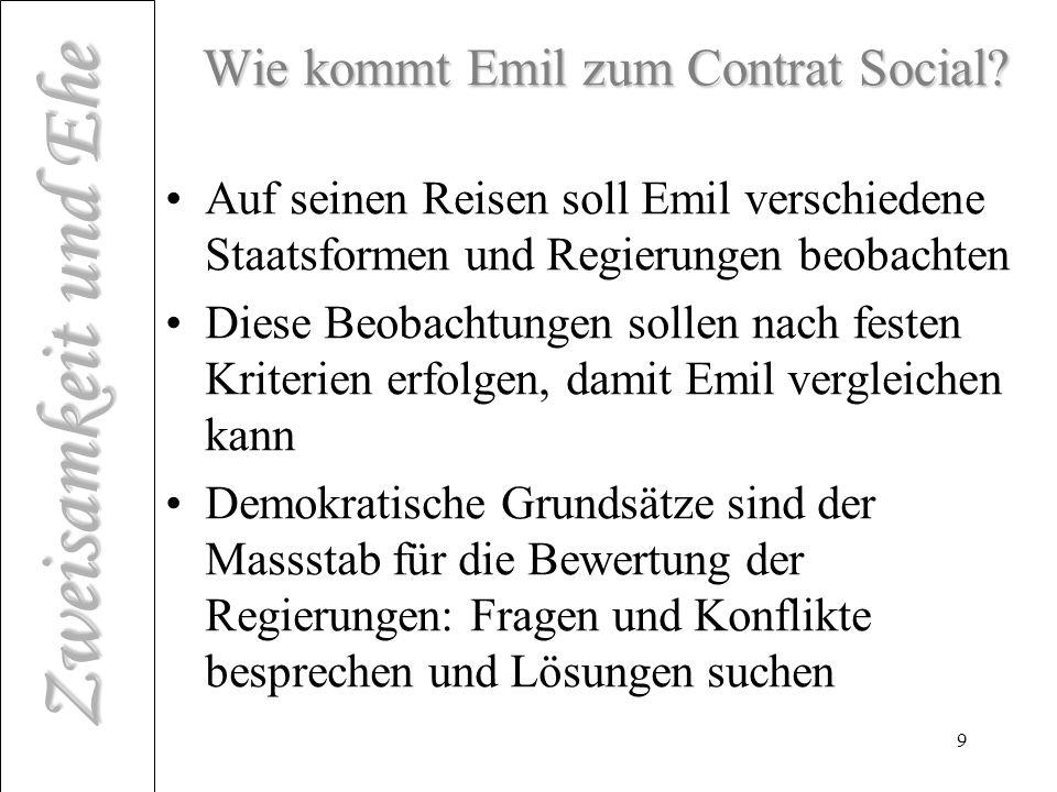 Wie kommt Emil zum Contrat Social