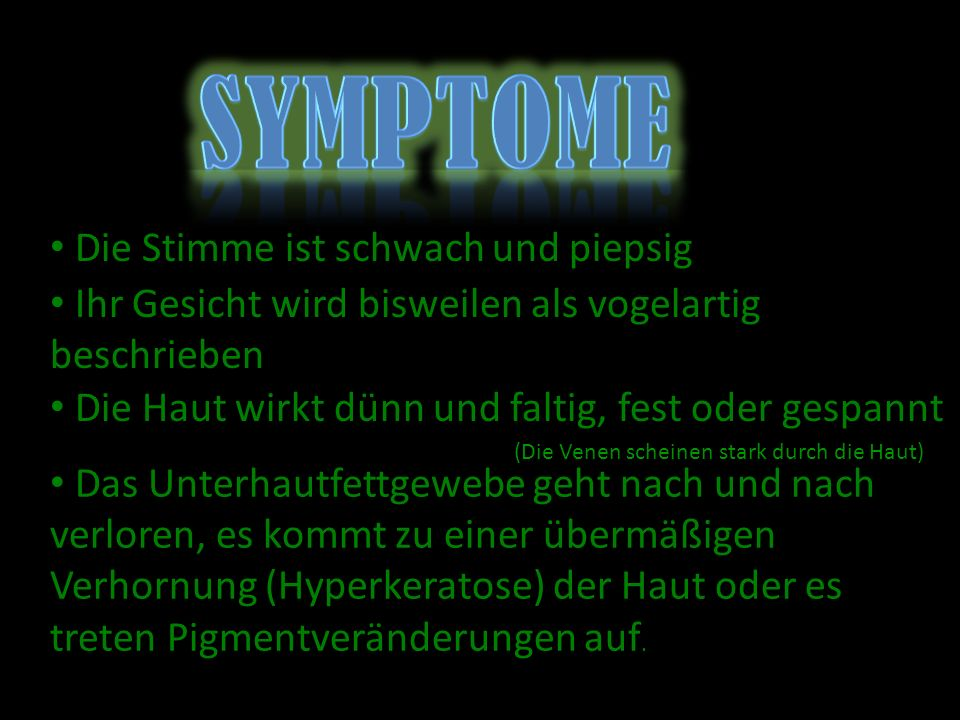 Symptome Die Stimme ist schwach und piepsig