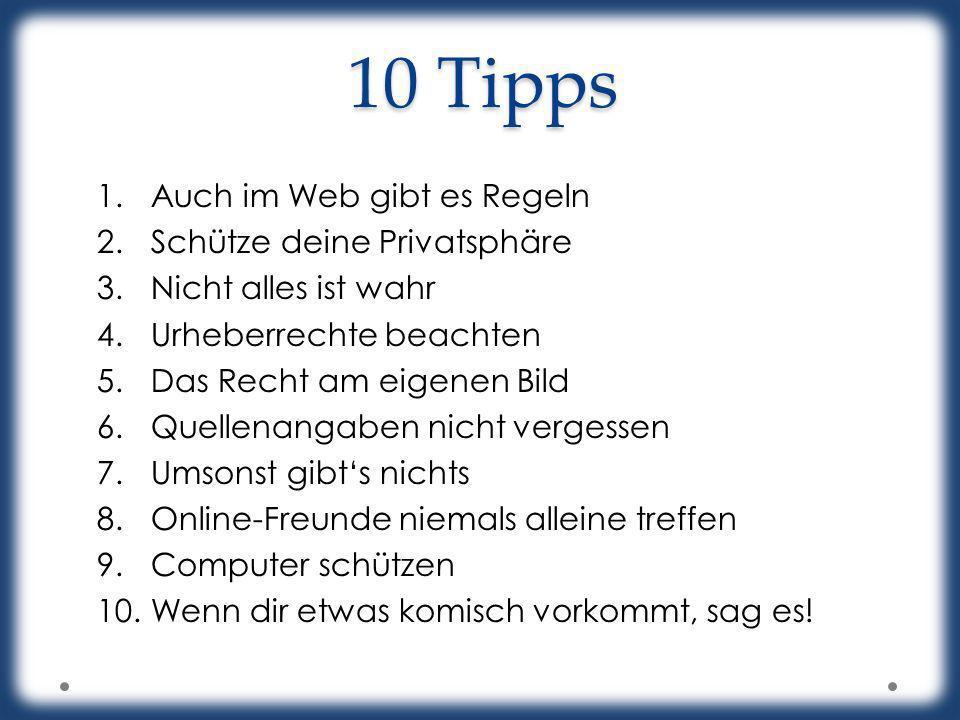 10 Tipps Auch im Web gibt es Regeln Schütze deine Privatsphäre