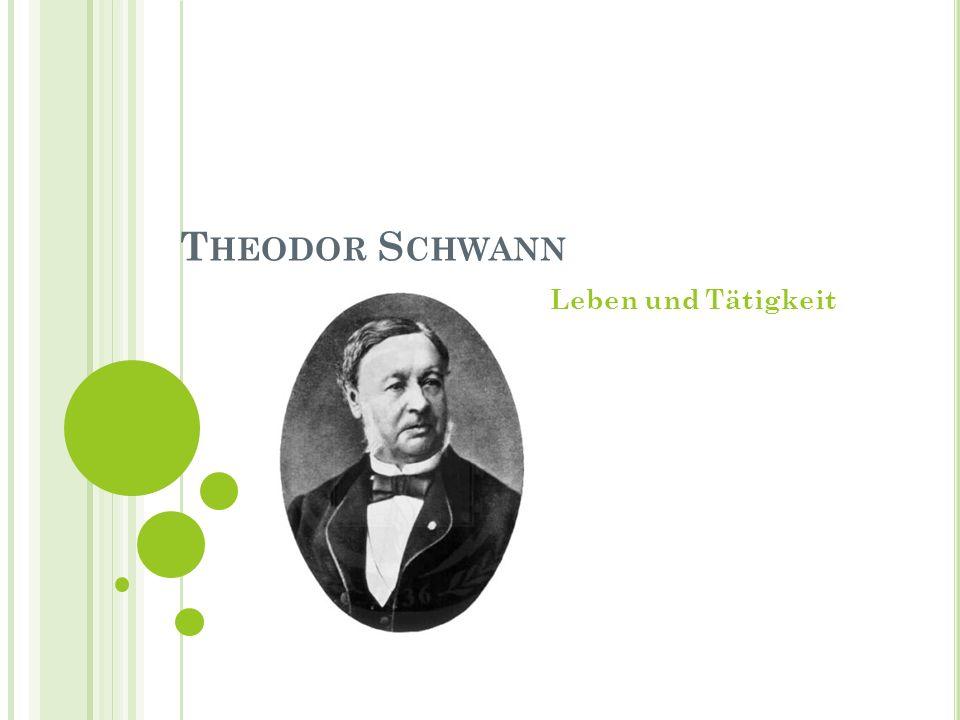 Theodor Schwann Leben und Tätigkeit