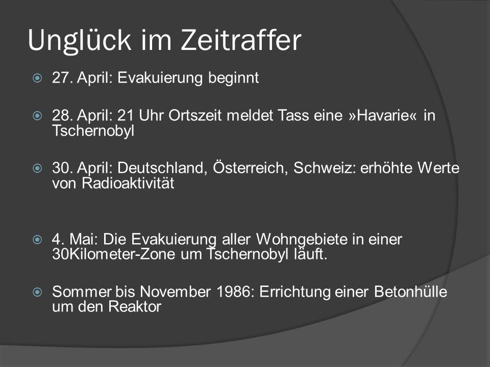 Unglück im Zeitraffer 27. April: Evakuierung beginnt
