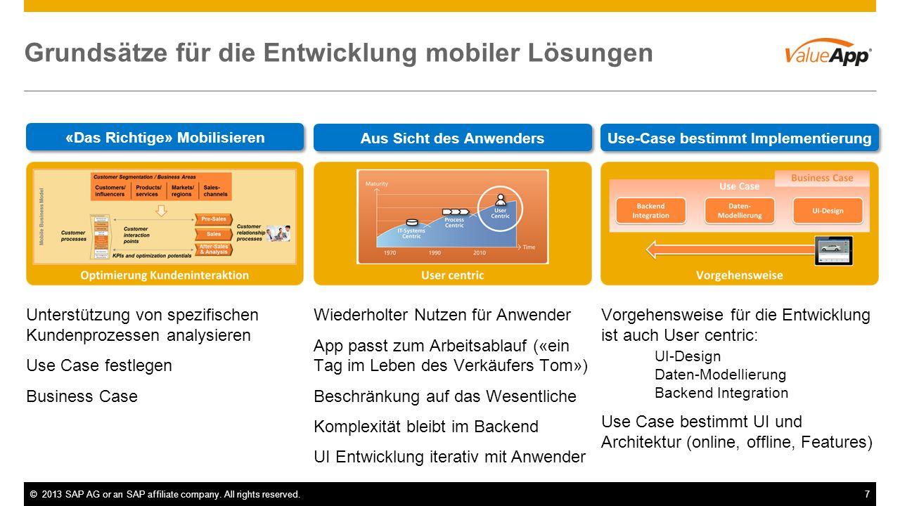 Grundsätze für die Entwicklung mobiler Lösungen