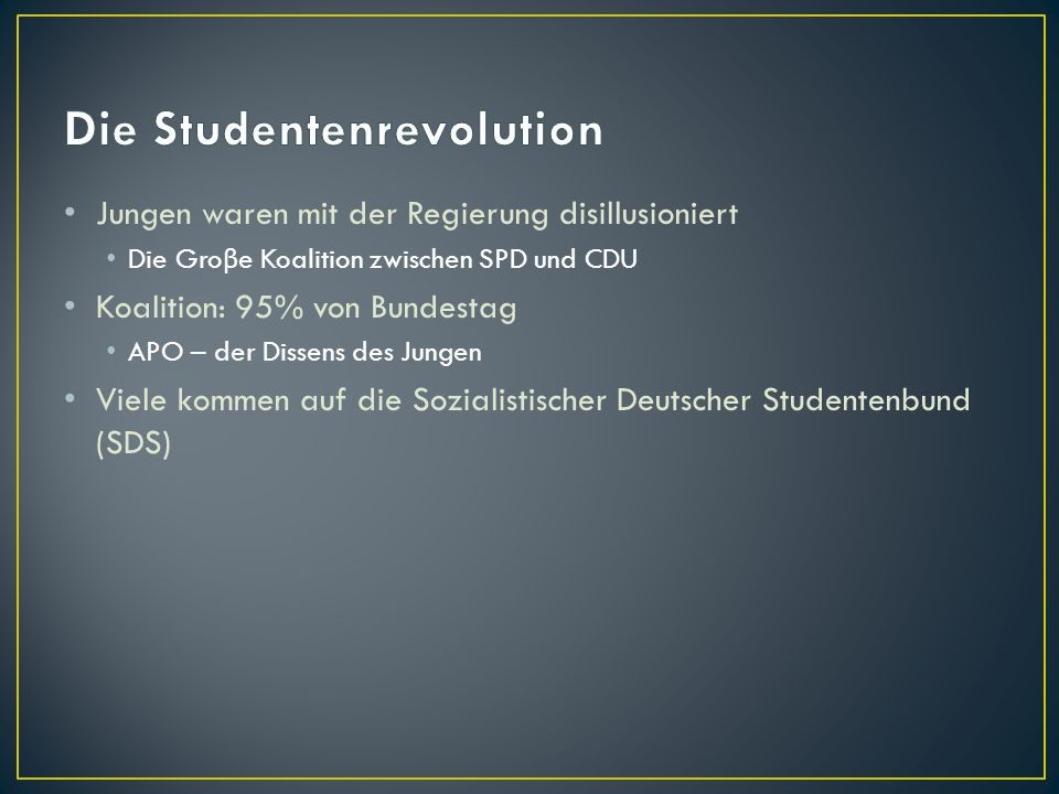 Die Studentenrevolution