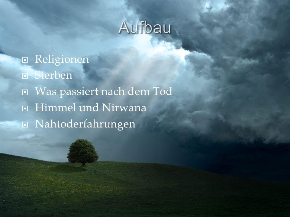 Aufbau Religionen Sterben Was passiert nach dem Tod Himmel und Nirwana