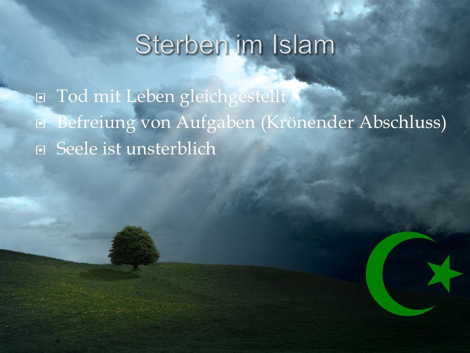 Sterben im Islam Tod mit Leben gleichgestellt