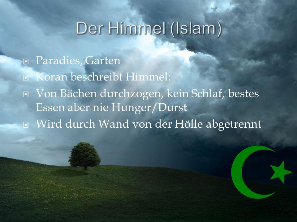 Der Himmel (Islam) Paradies, Garten Koran beschreibt Himmel:
