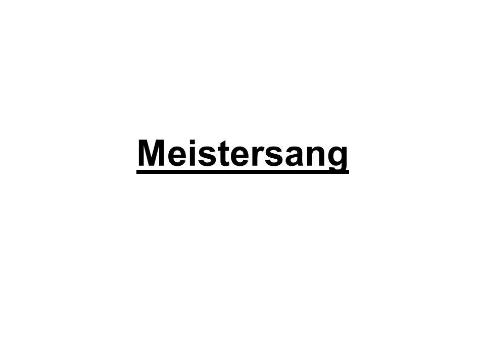 Meistersang