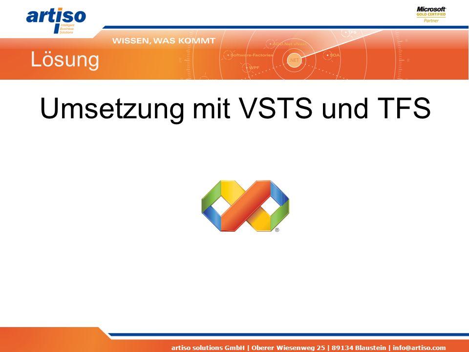 Umsetzung mit VSTS und TFS