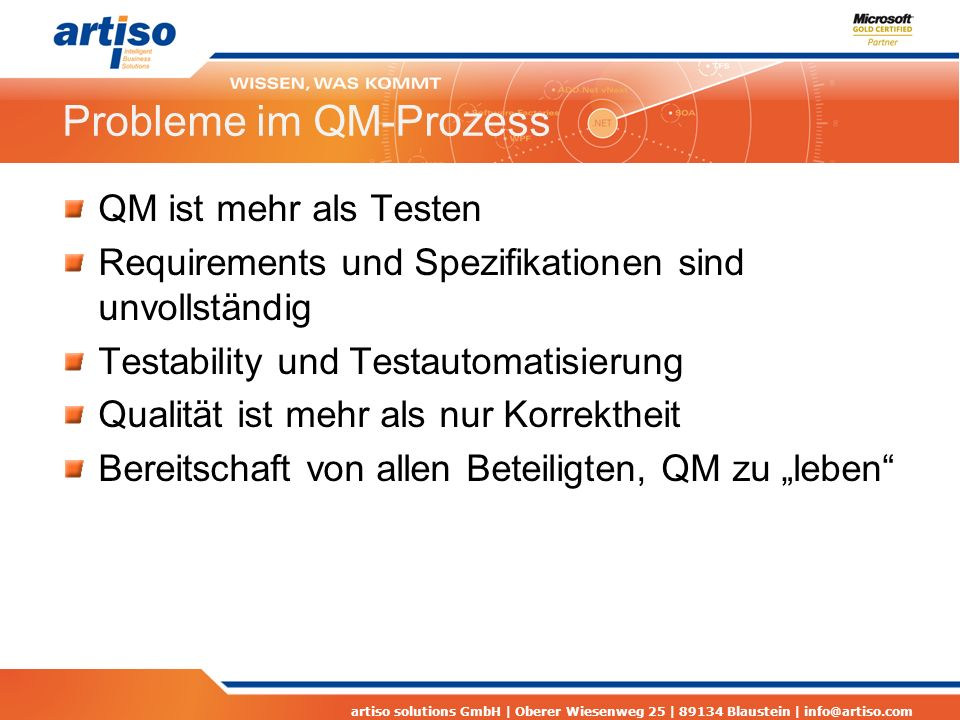 Probleme im QM-Prozess