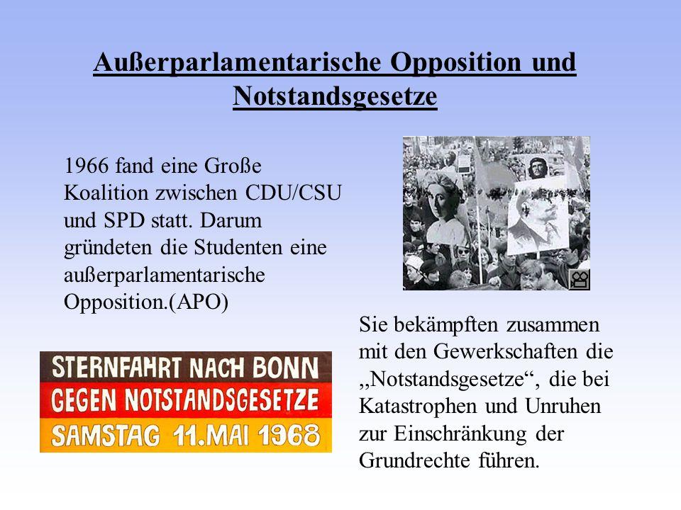 Außerparlamentarische Opposition und Notstandsgesetze
