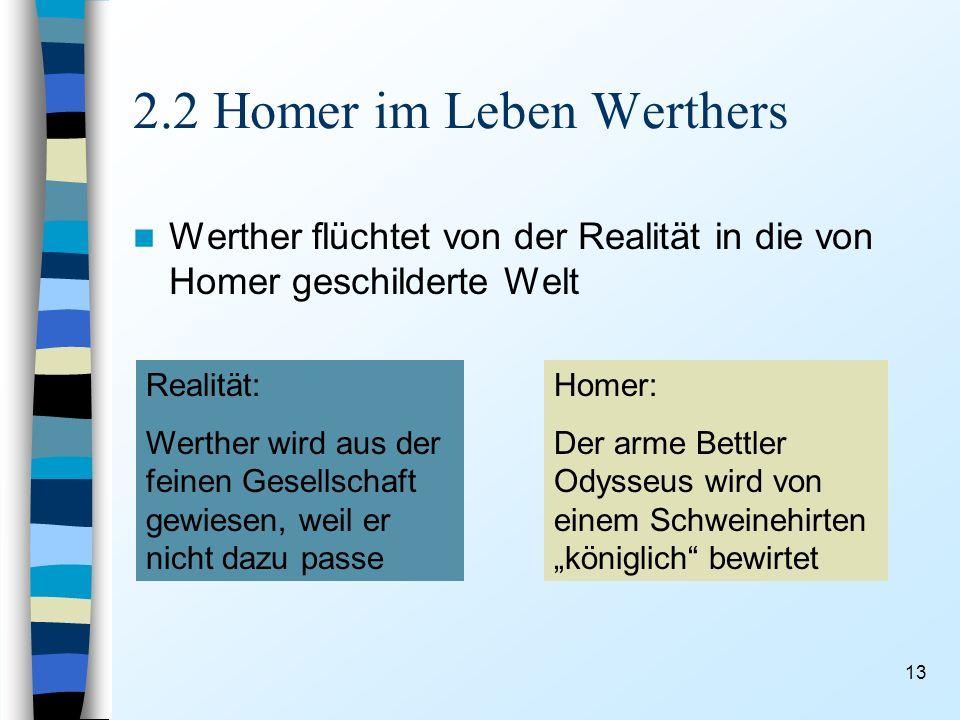 2.2 Homer im Leben Werthers