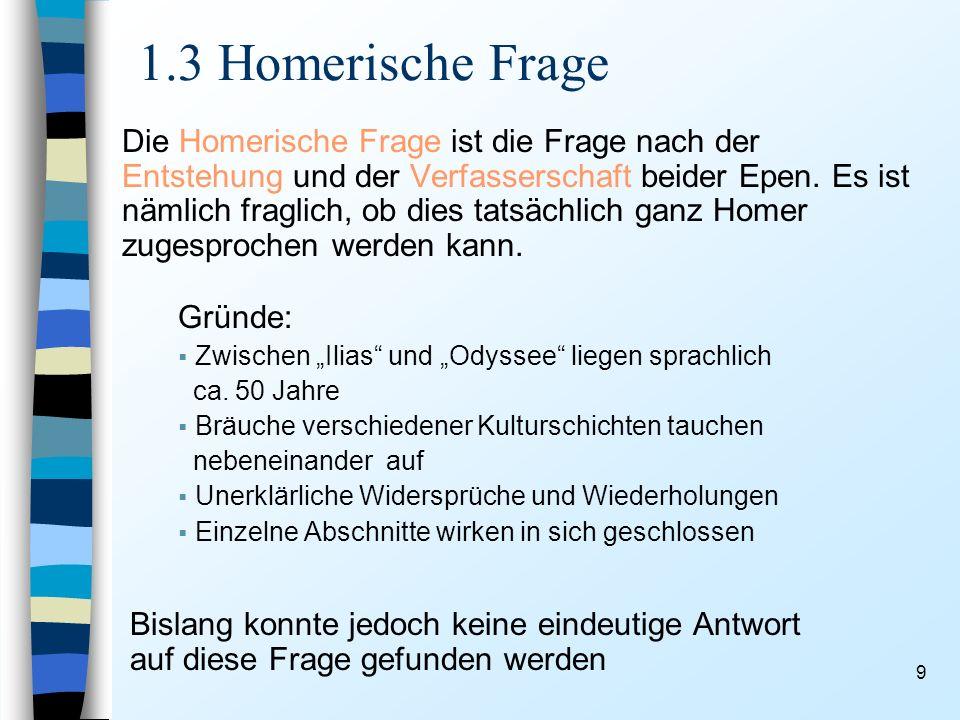 1.3 Homerische Frage